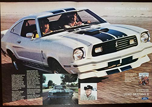 - Magazine Print Ad: 1976 Ford Mustang II 2+2 Carroll Shelby,