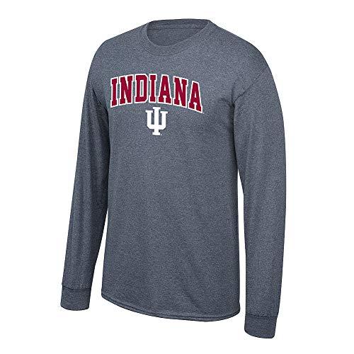 (Elite Fan Shop NCAA Men's Indiana Hoosiers Long Sleeve Shirt Dark Heather Arch Indiana Hoosiers Dark Heather Large )