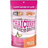 LonoLife Thai Curry Bone Broth 10g Protein, Stick Pack, 10 Count