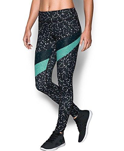 Under Armour Women's Mirror Marble Stripe Legging, Black/Crystal (002), X-Large