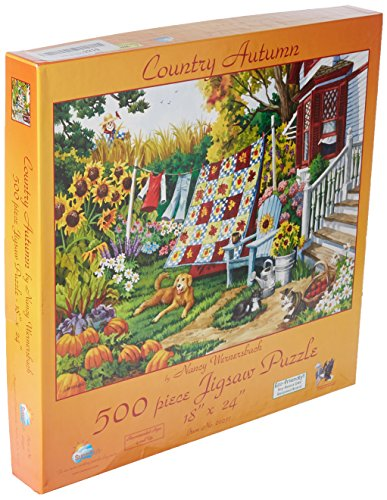 SunsOut 62937 500 Piece Country Autumn Jigsaw Puzzle
