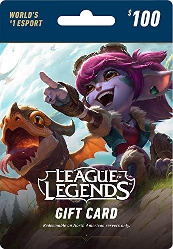 Amazon com: League of Legends $100 Gift Card – 15000 Riot