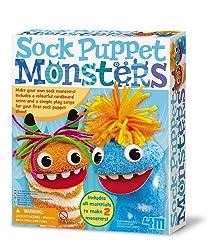 4M Sock Puppet Monsters Kit