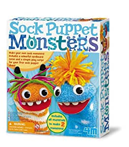 4M Sock Puppet Monsters Kit