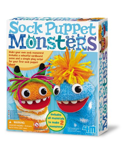 4M Sock Puppet Monsters Kit (Your Puppet Monster Own Make)