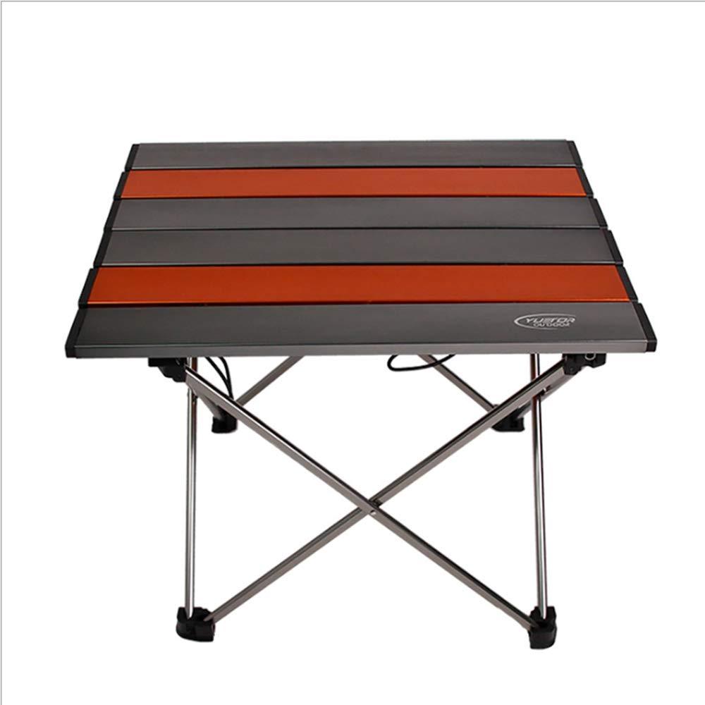 el más barato CZALBL Pequeña Mesa Plegable al Aire Libre, Mesa Plegable de de de Aluminio portátil, Mesa de Picnic al Aire Libre, Adecuado para Acampar, Picnic, Viajes, etc, con Bolsa de Almacenamiento, naranja  punto de venta en línea