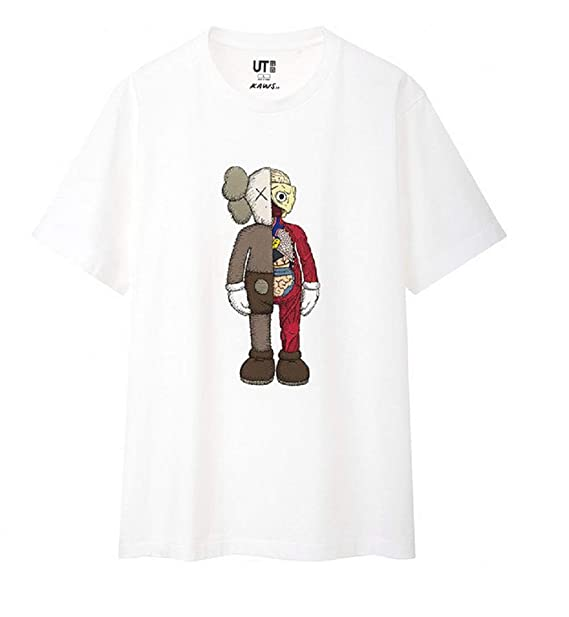 RyuLifeStyle KAWS x Uniqlo Cobranded Tshirt Asian Size L (Comparable to US  Size Small/Medium) White
