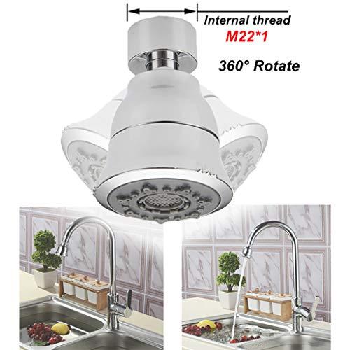 Euone Home, Kitchen Faucet Shower Water Saving Filter Bubbler Bathroom Shower Head