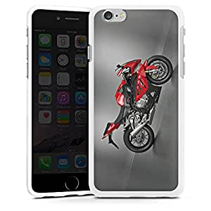 Carcasa Design Funda para Apple iPhone 6 silicona case blanco - Sport Motorcycle