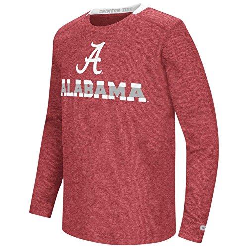 (Alabama Crimson Tide Colosseum Youth Steff Waffle L/S Shirt (Small))