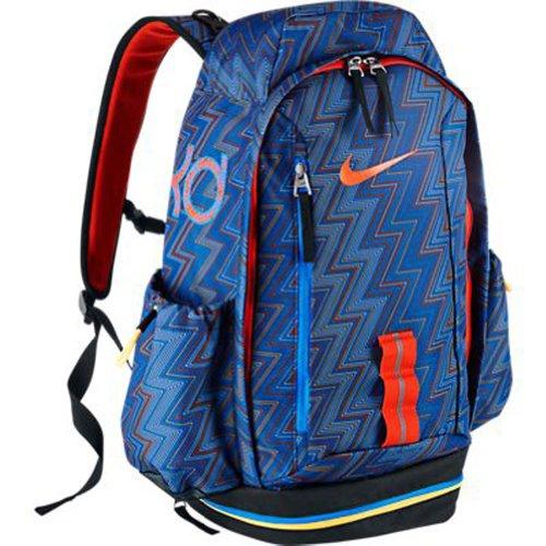 Nike Male KD HOOPS Basketball Backpack Bookbag in Black-Orange ... b48b5c5014944