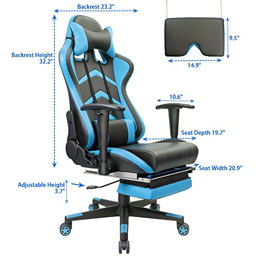 Stupendous Furmax Gaming Chair High Back Racing Chair Ergonomic Swivel Computer Chair Executive Pu Leather Desk Chair With Footrest Bucket Seat And Lumbar Ncnpc Chair Design For Home Ncnpcorg