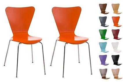 Sedie Ufficio Impilabili : Clp set sedie impilabili calisto con seduta in legno e telaio in