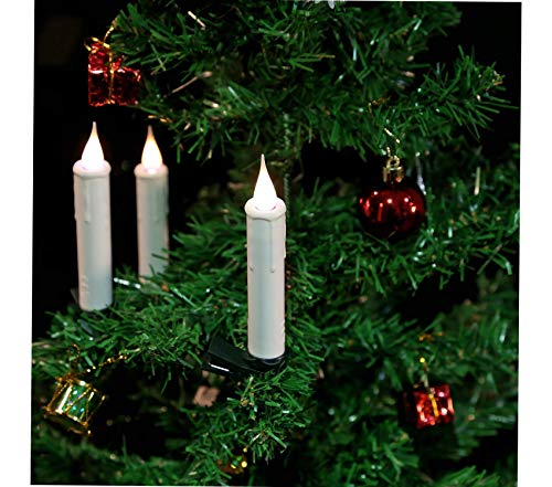 (GivеU Premium 10 Taper Remote Control LED Christmas Tree Candles with Clip, Battery Included,)