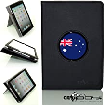 New SLEEP SMART Apple iPad Mini & iPad Mini with Retina leather Case By Calaboy- Interchangeable Design - Personalized Picture Frame w Fifa Australia Soccer flag Logo (FF25)