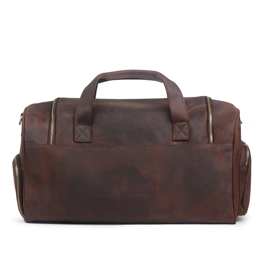 3e6e1a41c7 Valises et sacs de voyage Color : Dark Brown HOUYAZHAN Sac de Sport  Portable pour Homme Sac à bandoulière Diagonale ...