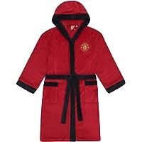 Manchester United Mens Dressing Gown Gewaad Hooded Fleece Officiële Voetbal Gift