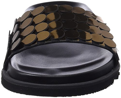 Seven P F Cerdo Or Bronce Tongs Negro Satinado Nimix C39707 Sixty Serraje Femme Circles 6xfqqZd