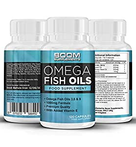 Omega 3 6 9 | Aceites de Pescado Omega 3 6 9 de 1000mg | Máxima potencia | 120 potentes cápsulas de aceite de pescado Omega 3 | Dosis COMPLETA para 2 meses | Ideal para hombres y mujeres | Rica fuente