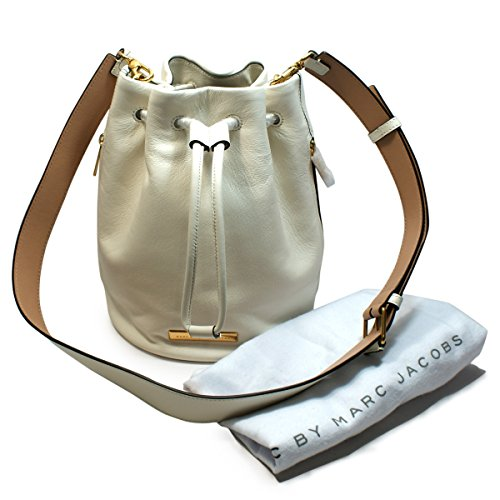 Medium Leche Leather M0005994 White Drawstring Marc Multi By Body Jacobs Cross Marc Bag 6agBqY