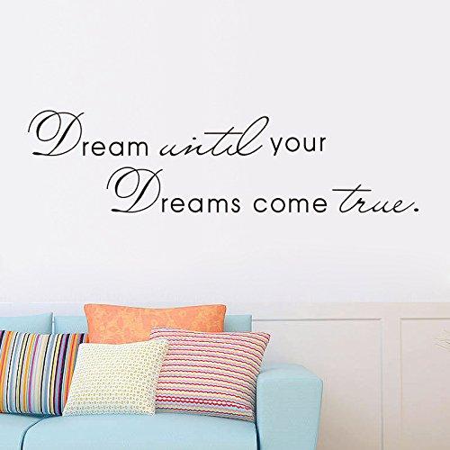 Come True Scrapbook (Shuxen(TM) Inspiring Phrase Dream Until Your Dreams Come True Wall Sticker Home Decor Use)