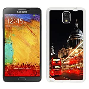 NEW Unique Custom Designed Samsung Galaxy Note 3 N900A N900V N900P N900T Phone Case With London St Paul Cathedral Double Decker_White Phone Case