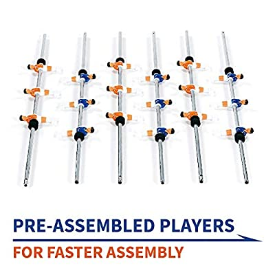 Rally and Roar Foosball Tabletop Games and Accessories, Mini Size - Fun, Portable, Foosball Soccer Tabletops Soccer - Recreational Hand Soccer for Game Rooms, Arcades, Bars, for Adults, Family Night : Sports & Outdoors