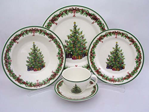 Christopher Radko Traditions Holiday Celebrations Christmas 5 Piece Place Setting
