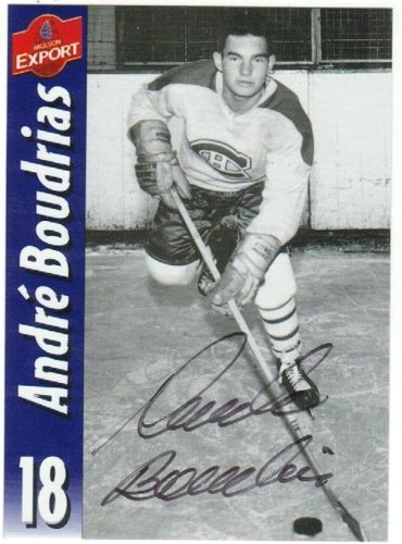 andre-boudrias-montreal-canadians-autographed-hand-signed-molson-export-card