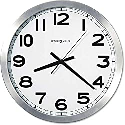 Howard Miller Spokane Wall Clock 625-450 - Modern & Round with Quartz Movement