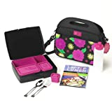 Laptop Lunch B630-Flower Bento System 2.0 with Outer Container, 5 Inner Containers, and Accessories