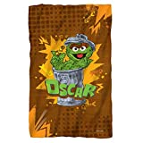 "Oscar The Grouch -- Sesame Street -- Fleece Throw Blanket (36""x58"")"