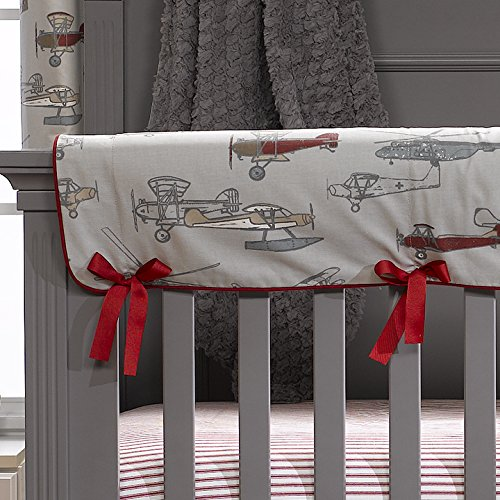 Vintage Airplanes Crib Rail Cover by Liz and Roo