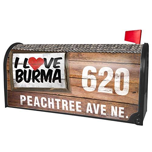 Burma Box - NEONBLOND Custom Mailbox Cover I Love Burma