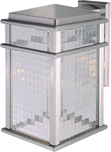 Feiss OL3402BRAL Mission Lodge Outdoor Patio Lighting Wall Lantern, Satin Nickel, 1-Light (9″W x 15″H) 150watts