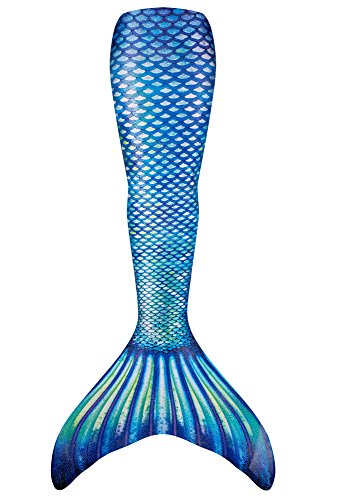Fin Fun Mermaid Tail Only, Reinforced Tips, NO Monofin, Sapphire Sea, Adult S