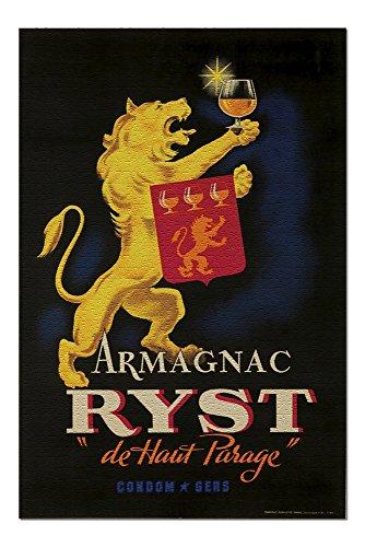 (Armagnac Ryst Vintage Poster France c. 1927 (20x30 Premium 1000 Piece Jigsaw Puzzle, Made in USA!))