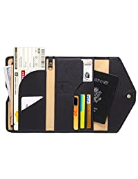 Zoppen Mulit-purpose Rfid Blocking Travel Passport Wallet (Ver.4) Tri-fold Document Organizer Holder, #1 Black