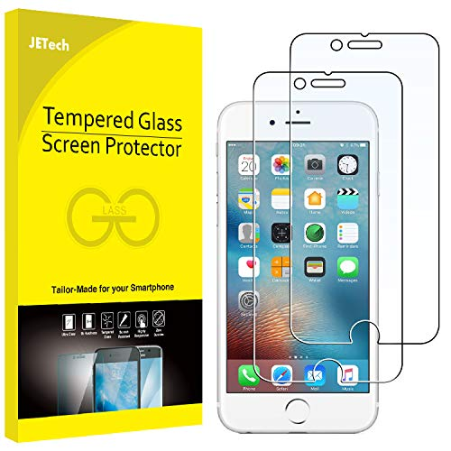 (JETech Screen Protector for Apple iPhone 6 and iPhone 6s, 4.7-Inch, Tempered Glass Film, 2-Pack)