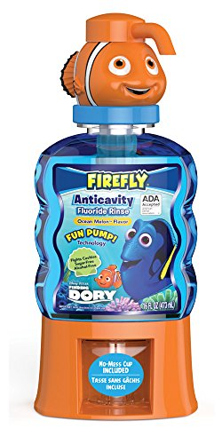 Firefly Finding Dory Fun Pump Anti-Cavity Mouth Rinse, 16 Ounces, (Pack of 4) by Firefly