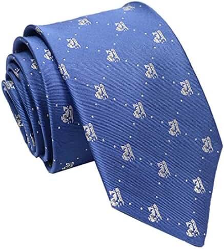 Wehug Hot Men's Ties 100% Silk Tie Woven Slim Necktie Jacquard Neck Ties