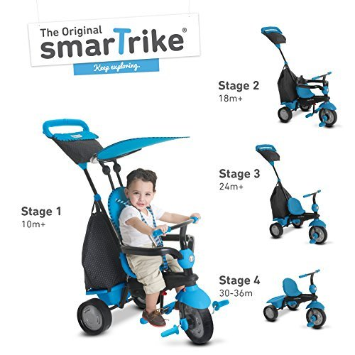smarTrike Glow Glow Storage 4 in 1 Baby Trike B072Z6ZQTW Light-Weight 11.7 pound With Storage Bag and Canopy (Blue) [並行輸入品] B072Z6ZQTW, カラーハーモニーLife:b7d45e9a --- number-directory.top