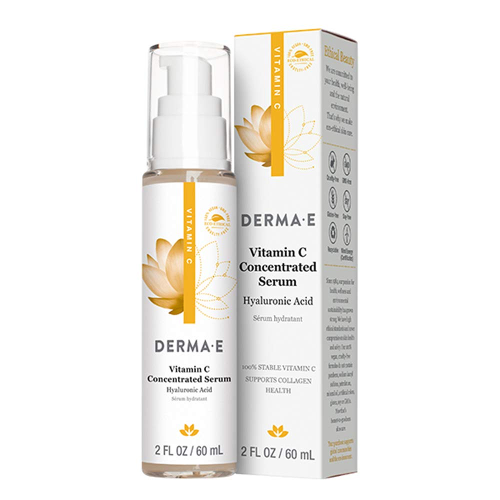 Derma E Vitamin C Concentrated Serum With Hyaluronic Acid Antioxidant Protection Boots Hydration Anti Aging Properties 2oz Amazon In Beauty