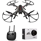 Amazingbuy FPV Racing Drone, MJX Bugs 3H B3H 2.4G 6-Axis Gyro Brushless Motor RC Drone Auto-Stabilized/Semi-Stabilized Mode Switching/360 Degree Flip Quadcopter (With MJX 720P C5000 Camera)