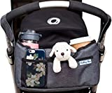 Baby : Deluxe Stroller Organizer | Universal Fit, Two Insulated Cup Holders, Lightweight Design | Lifetime 100% Satisfaction Guarantee!