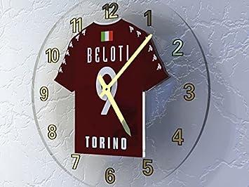 Serie A - italiano camiseta de fútbol relojes de pared - cualquier nombre, cualquier número, cualquier equipo - personalización gratuita., hombre, ...