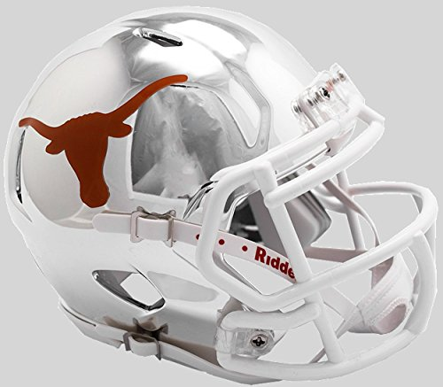 - Riddell NCAA Texas Longhorns Unisex Texas Longhorns Helmet Replica Mini Speed Style Chrome Alternatehelmet Replica Mini Speed Style Chrome Alternate, Team Colors, One Size