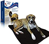 Foxy Loves Self-Heating Pet Pad Bed for Dogs & Cats with Reflective Thermal Insert and Removable Cover in Chocolate Color - Non-Electrical