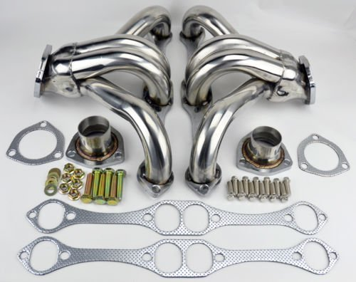 Chevy Small Block SB V8 Stainless Hugger Headers 262 265 283 305 327 350 ()