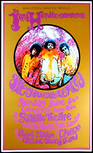 Jimi Hendrix Experience Are You Experienced  Deluxe Collectible Concert Poster Print Beautiful Color And Finish By Bob Masse   Karl Ferris